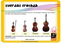 Instrumentos de cuerda frotada: Violín, Viola, Violoncello y contrabajo Musical, Double Bass, Twine, Instruments