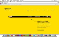 Goede website 1  Vormgeving - Vind ik mooi gedaan met dat geel en het grote potlood. Navigatie - Heel duidelijk in een strak lettertype en groot aangegeven. Informatie - Staat niet veel op, maar dat is waarschijnlijk te vinden onder de kopjes erboven.