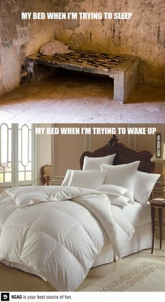 Check out: Funny Memes - My bed. One of our funny daily memes selection. We add new funny memes everyday! Bookmark us today and enjoy some slapstick entertainment! Funny Cartoons, Funny Jokes, Hilarious Quotes, Ironic Memes, Funny True Facts, Funny School Jokes, School Humor, It's Funny, Trying To Sleep