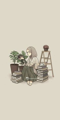 Islamic anime and hijab - # islamic # hijab particular scarf is an essential bit inside clothes Wallpaper Wa, Cute Wallpaper Backgrounds, Cute Cartoon Wallpapers, Cartoon Kunst, Cartoon Art, Hijab Drawing, Islamic Cartoon, Anime Muslim, Hijab Cartoon