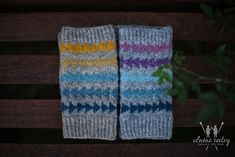 """Designing """"fair isle"""" mitts from this marvelous yarn was our dream and it has come true! Enjoy!"""