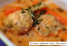 Transylvanian meatball soup with tarragon Hungarian Cuisine, Hungarian Recipes, Hungarian Food, Pasta Recipes, Cooking Recipes, Meatball Soup, Tasty, Yummy Food, Goulash