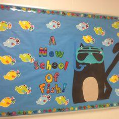 Beginning of the year ocean themed bulletin board