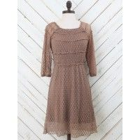 Alter'd State! This dress will be perfect for an outdoor concert or sitting by the lake with your friends. The highly elastic material is great for summer. Pair with your best cow girl boots and chunky belt to complete the look.   - fit & flare   - 36