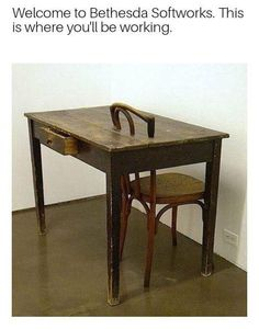 Desk from Bethesda is like...
