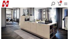 Unelmakeittiö, jossa on käytännöllinen keittiösaareke Kitchen Doors, Kitchen Dining, Kitchen Island, Kitchen Cabinets, Kitchen Builder, Danish Kitchen, Interior Styling, Interior Design, Stylish Kitchen
