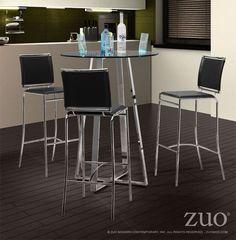 Zuo Modern 300150  Soar Bar Chair  in Black