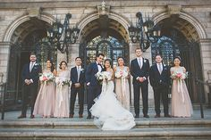 Brides: East-Meets-West Wedding at the Boston Public Library Wedding Photography Inspiration, Wedding Inspiration, Wedding Ideas, Wedding Stuff, Dream Wedding, Designer Bridesmaid Dresses, Wedding Dresses, Boston Public Library Wedding, Great Gatsby Themed Wedding