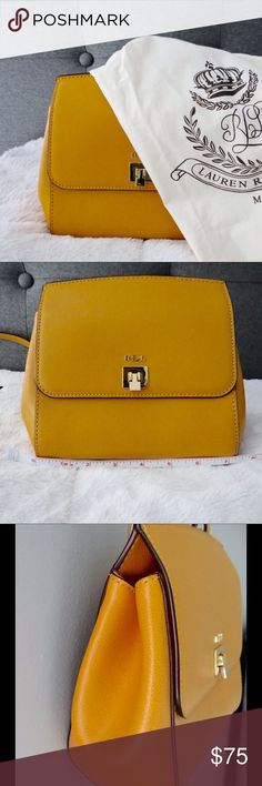 """Lauren by Ralph Lauren Whitby Leather  Crossbody Pebble leather. Adjustable Strap approximately 50"""".  Height is approximately 7"""". One inside slip pocket and one inside zip pocket. Dust bag included. Lauren Ralph Lauren Bags Crossbody Bags"""