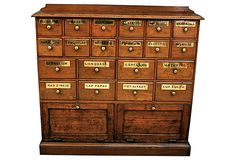 One Kings Lane - 19th-C.  English Apothecary Cabinet