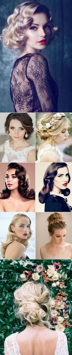 gorgeous vintage wedding hairstyles and makeup ideas