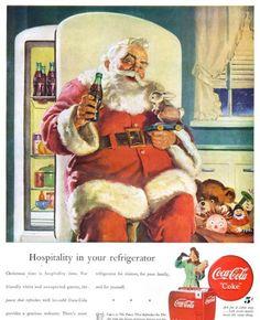 Papa Noel siempre ha bebido Coca-Cola