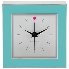 kate spade new york/Lenox. Presented in a Kate spade gift box, will add style to any space, makes a great gift. function and the face includes a small, pink Spade icon symbol at twelve o'clock. Pink Clocks, Black Clocks, Turquoise Home Decor, Pink Home Decor, Turquoise Cottage, Desk Accessories, Decorative Accessories, Decorative Accents, Online Shopping