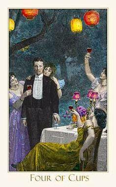 Four of Cups (Victorian Romantic Tarot)