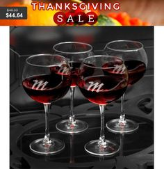 Custom wine glasses Personalized Connoisseur Red Wine by ShopLexxi