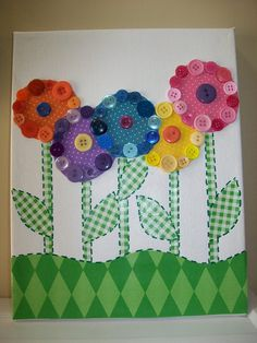 button wall art Fun summer project I cut, they glue