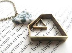 Geometric Necklace // geometric diamond necklace // geometric Jewelry // Geometric diamond Jewelry // Boyfriend Girlfriend // mixed metals