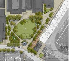 Site plan rendering. Image credit: Andropogon