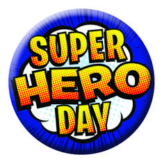 Printed button pin badges are great for celebrations, surprises or just making someone's day - #nationalsuperheroday