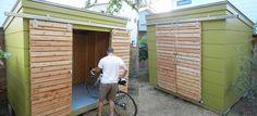 shed modern backyard Backyard Studio, Modern Backyard, Backyard Projects, Outdoor Sheds, Outdoor Spaces, Craftsman Sheds, Outdoor Bike Storage, Backyard Storage, Bbq Shed