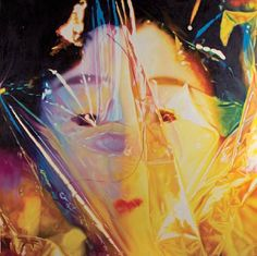 James Rosenquist (American, born 1933) Gift Wrapped Doll #25, 1993, oil on canvas, 60 x 60in (152.4 x 152.4cm) Estimate: $200,000 - 300,000