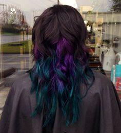 Purple blue teal
