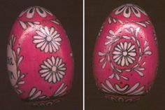 Marguciai (Lithuanian Easter eggs) 2-3 inch wooden eggs burned & painted in traditional Lithuanian patterns.  Some can be personalized.
