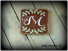 Initial Sign Monogram Plaque Personalized by SawdustAndSunshowers