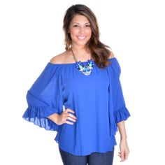 THE ABIGAIL TOP IN ROYAL BLUE