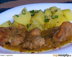 Dušený králík na hořčici Czech Recipes, Ethnic Recipes, Pork, Chicken, Meat, Czech Food, Food, Cooking, Kale Stir Fry