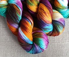 GnomeAcres Shop ::: Bertie Bott's - Hand Dyed Yarn - Fingering / Sock