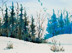 Winter Landscape - Watercolor
