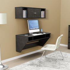 Prepac SOHO Washed Ebony Floating Desk | Overstock.com Shopping - Great Deals on Prepac Desks