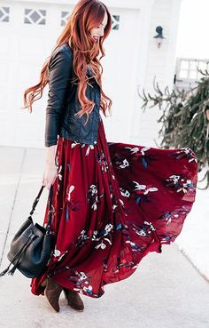 spring style, maxi dresses, womens fashion, Prints Charming Maxi Dress
