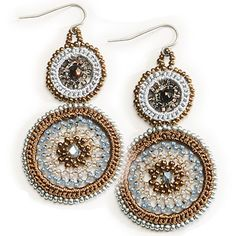 """Summer Clearance. 53% off Palm Earrings.  These hand beaded necklaces and earrings are made with macramé rings by the Maya in the Guatemalan Highlands. You can feel good about wearing this piece due to the fact that it provides employment and opportunity to the many artisans involved in its making. Necklace: 7.5""""L x 1.25""""W. Earrings: 2""""L x 1.25""""W. Fair trade. #Gifts #Lifestyle #Girlfriends #GirlPower #Inspirations #Sisterhood #Friendship #Jewelry"""
