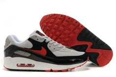 Nike Air Max Shoes Nike Air Max 90 Cool Grey Black Varsity Red [Nike Air Max 90 - You will get envious eyes when sporting these Air Max 89 Cool Grey Black Varsity Red shoes. The Nike Nike Air Max 90 is timeless classic with mesh and leather accent on Cheap Nike Air Max, Nike Shoes Cheap, Air Max 90 Hyperfuse, Air Max Sneakers, Sneakers Nike, Air Max 90 Black, Running Shoes On Sale, Buy Shoes, Men's Shoes