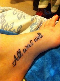 To me, this is the right way to get a Harry Potter tattoo. Subtle, but perfect.