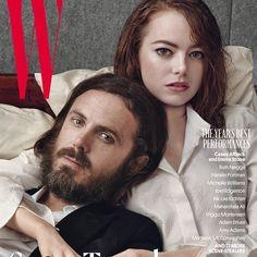Casey Affleck and Emma Stone // Six Covers of W Magazine February 2017   Art8amby's Blog