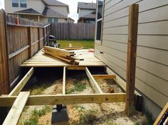 Move fence line back if necessary to reclaim some additional deck space.