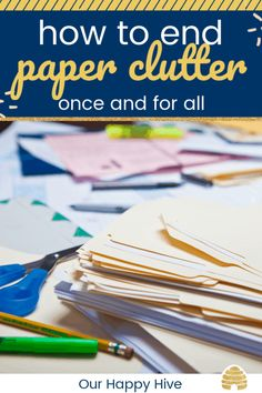 Paper can become unruly and clutter our homes. Check out these simple ways to organize your important papers and end the clutter! Organizing Important Papers, Organizing Paperwork, Clutter Organization, Home Organization Hacks, Organizing Tips, Kitchen Organization, Decluttering Ideas, Household Organization, Storage Hacks
