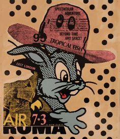 A.CE: Bunny Roam, 2013  #painting #streetart #bunny www.kidsofdada.com/products/bunny-roma-2013