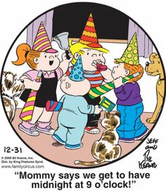 My mother loved Family Circus!  After I was married, we talked by phone almost every day.  Sometimes she would call just to read me the daily Family Circus.  :)