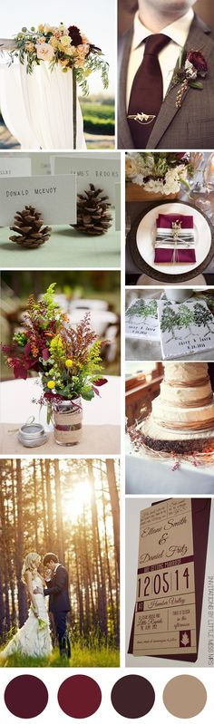 Colors: Garnet, Ruby, Taupe | Theme: Enchanted Forest | Season: Winter or Autumn