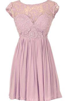Lilac Garden Lace Dress
