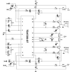 This 250 watts audio amplifier circuit audio driver manufactured by SGS Thomson, can be designed a very simple high power audio amplifier electronic project using few external electronic parts . Diy Amplifier, Class D Amplifier, Basic Electrical Engineering, Electronic Parts, Electronic Circuit, Circuit Diagram, Electronics Projects, Fun Math, Car Audio