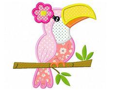 Girly Giraffe digital applique embroidery by CherryStitchDesign