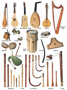 Shawmn : Double-reed instrument. It's the ancestor of the oboe    Organ : There were the church organ and also a portative organ.    ...