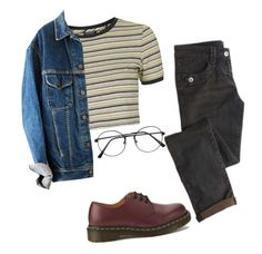 by f-airyh on Polyvore featuring Topshop and Dr. Martens