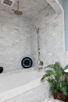 52 Ideas for bathroom shower tub tile ceilings Small Shower Remodel, Bath Remodel, Diy Bathroom, Master Bathroom, Bathroom Ideas, Bathroom Remodeling, Master Shower, Washroom, Bathroom Fixtures