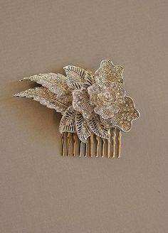 Portobello jewelry on Etsy http://www.etsy.com/listing/66432877/anise-art-deco-rhinestone-hair-comb